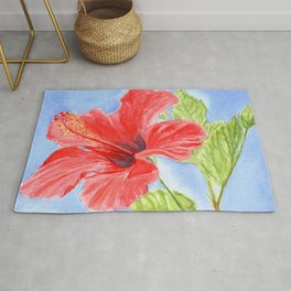 Heavenly Hibiscus Rug