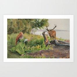 Beckon Art Print