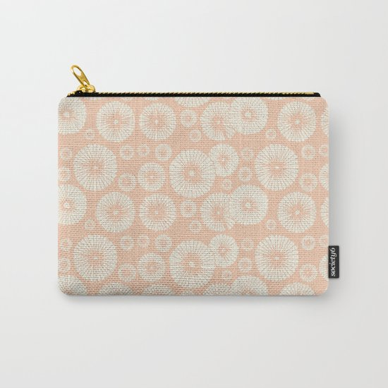 Pink Flowers on Tropical Blush Carry-All Pouch