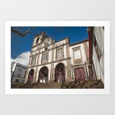Portuguese church Art Print