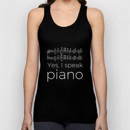Yes, I speak piano Unisex Tank Top