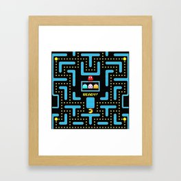 pac-man blue Framed Art Print