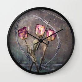 Trapped Roses Wall Clock