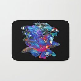 FIGHTING FISHES BETTA - Animals | Psychedelic | 70's | Abstract | Pop | Surrealism | Nature Bath Mat