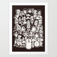 discworld Art Prints featuring Point and Click  by Hoborobo