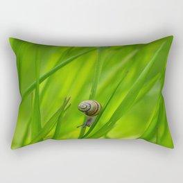 Little Snail in Gras Rectangular Pillow