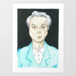 David Byrne Portrait Art Print