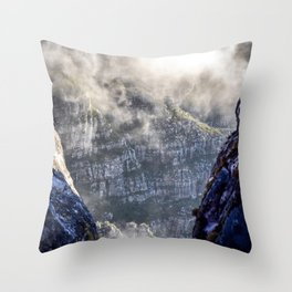 Table Mountain, South Africa Landscape Throw Pillow