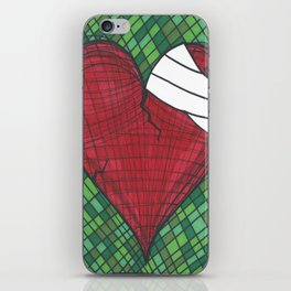 He Heals the Brokenhearted (Psalms 147:3) iPhone Skin