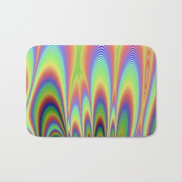 Fractal Rainbows Bath Mat