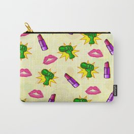 Cosmopolitan Pop Art Mixed Media Carry-All Pouch