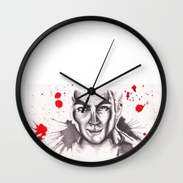 James T. Kirk Watercolor painting Wall Clock