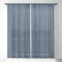 Pratt and Lambert 2019 Noir Dark Blue 24-16 Solid Color Sheer Curtain