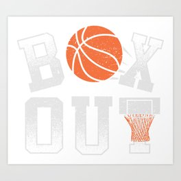 Basketball Coach Shirt Box Out rebound defense Art Print