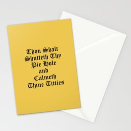 Calmeth Thine Titties Poster Stationery Cards