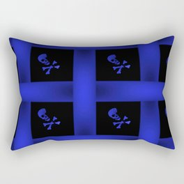 Blue Skulle Pattern Rectangular Pillow