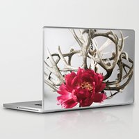 antler Laptop & iPad Skins featuring Antler Flower by Jodi Kassowitz Photography