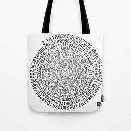 Pi - white Tote Bag