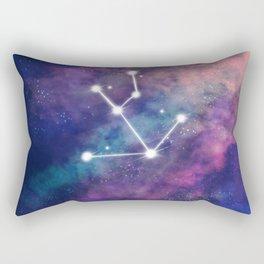 Taurus Star Sign Galaxy Rectangular Pillow