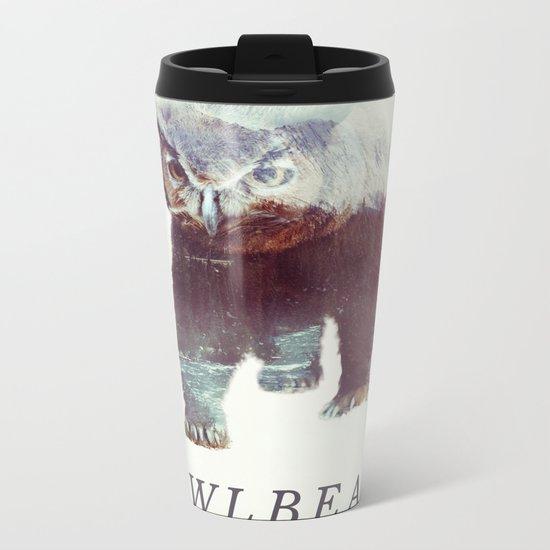 Owlbear (Typography) Metal Travel Mug