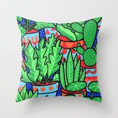 Plants more plants Throw Pillow