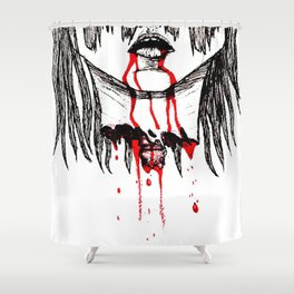 BLOODING Shower Curtain