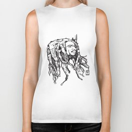 Marley Dreads Design Men's Graphic Tee Sketch Jamaican drink  T-Shirts Biker Tank