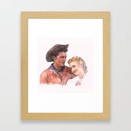 Gordon McRae and Shirley Jones - Curly & Laurey - Oklahoma! Watercolor Framed Art Print