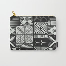 UrbanNesian Grey Siapo and Tatau Carry-All Pouch