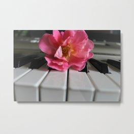 Rose Piano Metal Print