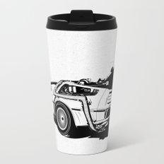 DeLorean / BW Metal Travel Mug