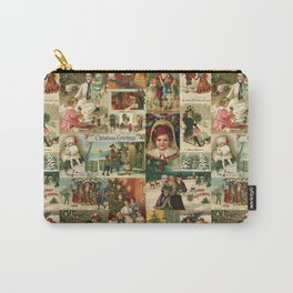 Vintage Victorian Christmas Collage Carry-All Pouch