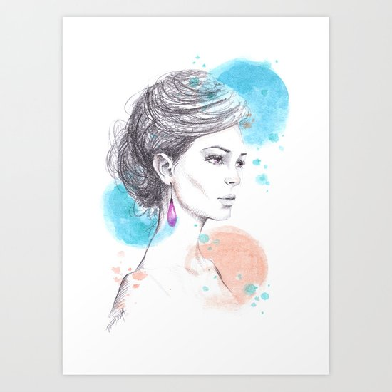 Earring Art Print