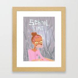 school time Framed Art Print