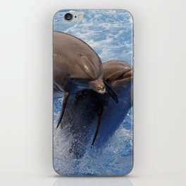 Dolphins jump iPhone Skin