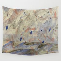 anxiety Wall Tapestries featuring Anxiety by Kali Thomas