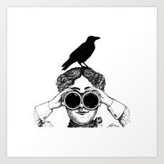 Where's that bird?! - humor Art Print