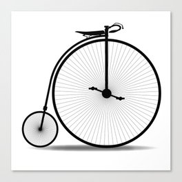 Penny Farthing Silhouette Canvas Print