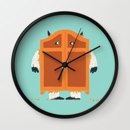 Monster in the closet Wall Clock