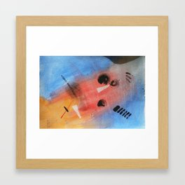 Shadows in Space Framed Art Print