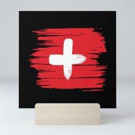 Switzerland Flag Mini Art Print