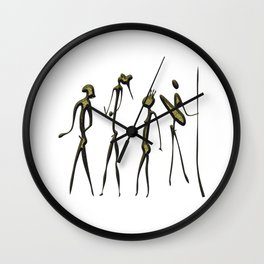 warriors - hunters Wall Clock