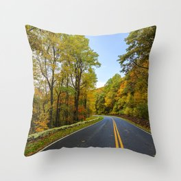 Autumn Road Trip Throw Pillow