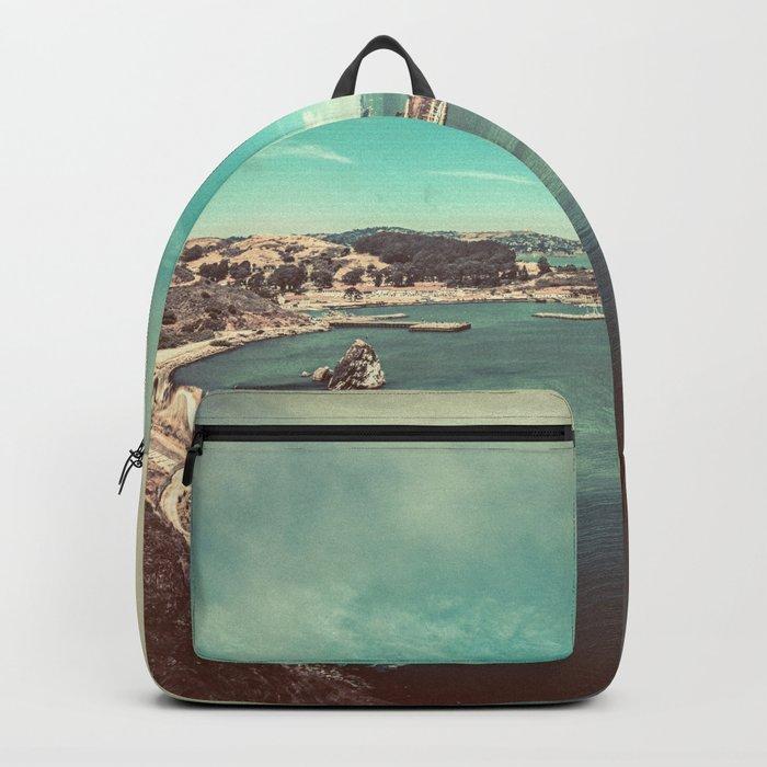 San Francisco Bay from Golden Gate Bridge Backpack