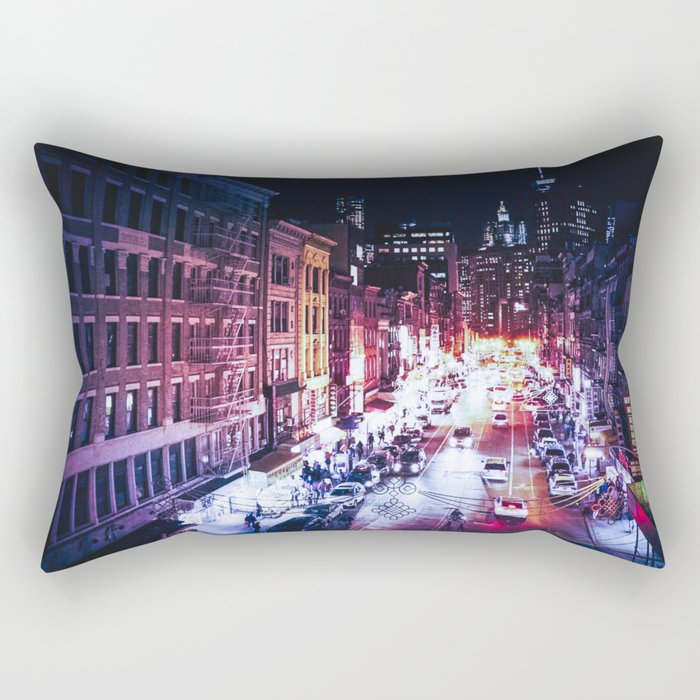 NYC Night Rectangular Pillow