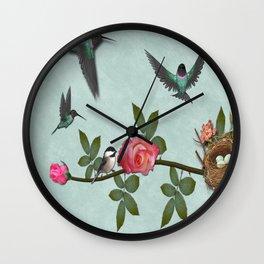 Hummingbird Family Wall Clock