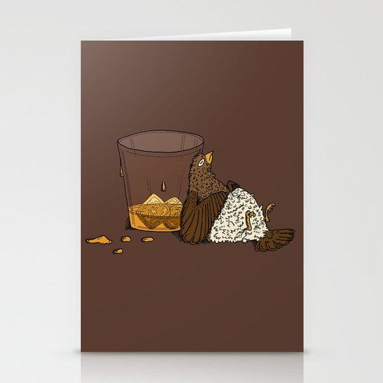 Thirsty Grouse - Colored! Stationery Cards