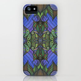 Of Fish and Feathers Repitition 1 iPhone Case