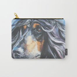 Afghan Hound Beautiful Fine Art Dog Painting by L.A.Shepard Carry-All Pouch