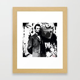 ABRAHAM LINCOLN INK SPLASH MAKE MUSIC NOT WAR Framed Art Print